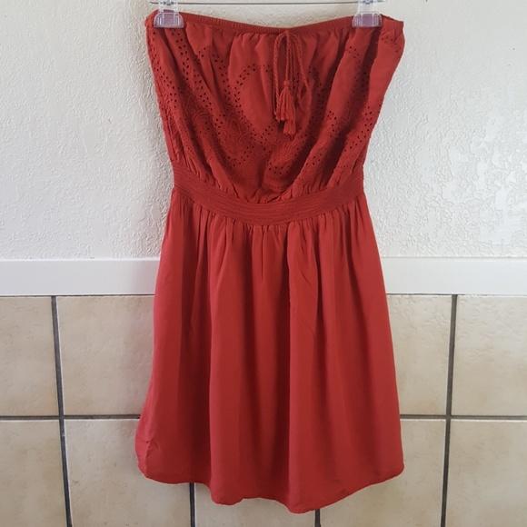 Forever 21 Dresses & Skirts - Forever 21 Plus strapless burnt orange dress Ox